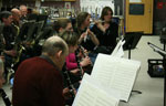 Woodwinds at work.